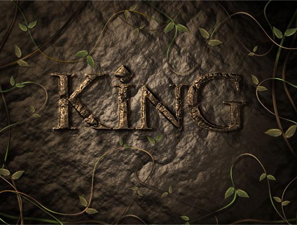 利用滤镜及图层样式制作超酷的褐色岩石字1