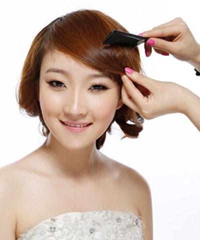 简便新娘发型步骤图解5