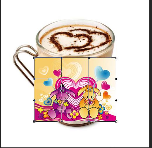 PhotoShop通过变形工具为咖啡杯贴图实例教程5