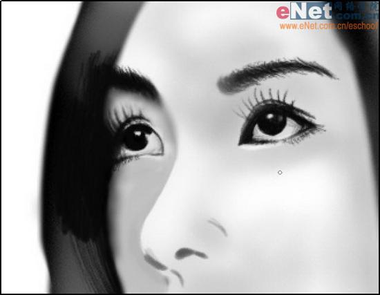 Photoshop cs5鼠绘水墨画美女头像照片的图文教程8