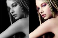 利用photoshop调整图层给黑白照片上色教程1