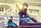 Photoshop打造古典Lomo风格建筑美女图片1