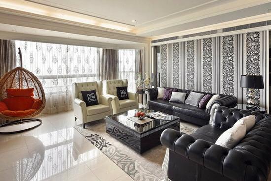 客厅瓷砖铺贴效果图4