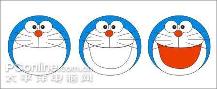 教你用CDR绘制可爱的哆啦A梦6