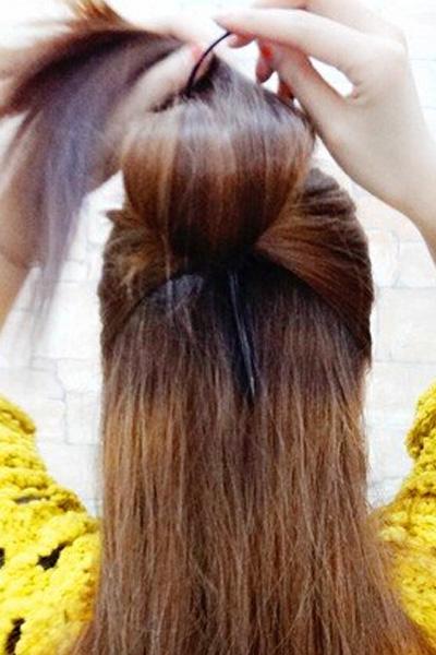 韩式新娘盘发图3