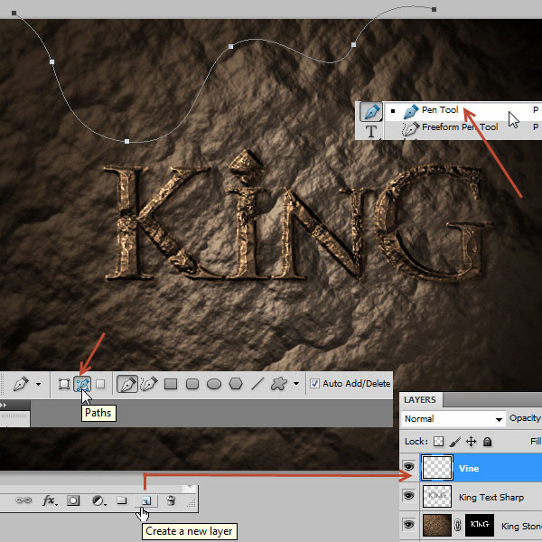 利用滤镜及图层样式制作超酷的褐色岩石字42
