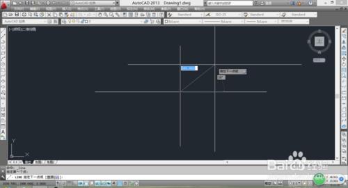 利用CAD画有角度有长度的直线7