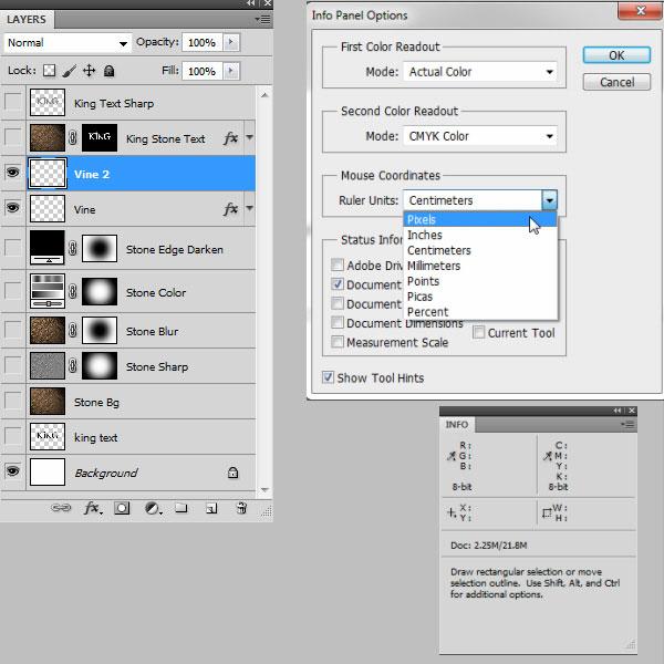利用滤镜及图层样式制作超酷的褐色岩石字53