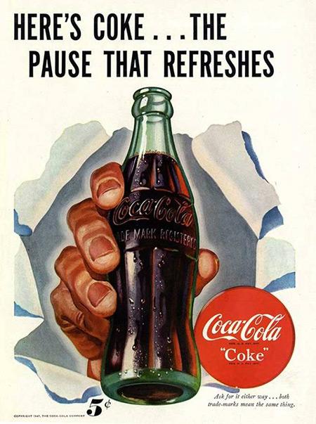 百年可口可乐平面广告作品欣赏39