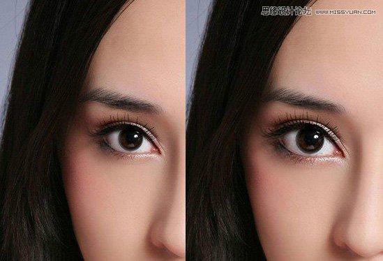 Photoshop两种方法给美女的眼睛变大1