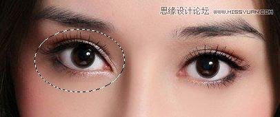 Photoshop两种方法给美女的眼睛变大3