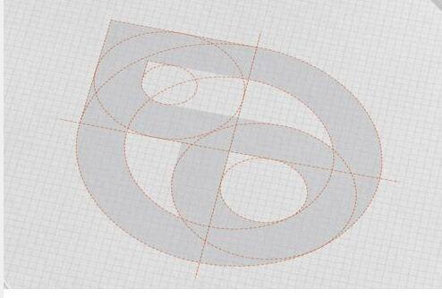 AI绘制创意漂亮的相切圆标志6