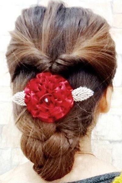 韩式新娘盘发图10
