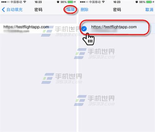 iPhone怎么查看和删除Safari保存的密码3