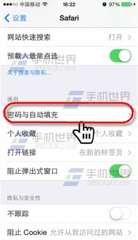 iPhone怎样检查和删除Safari保存的暗码1