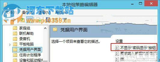 win8开启和关闭密码明文显示的方法2