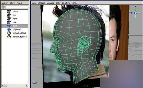 Maya制作人物头部polygon建模39