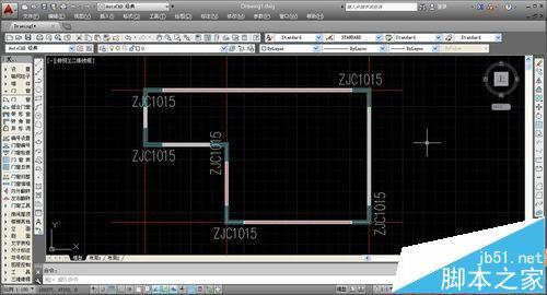 CAD建筑图纸中怎么绘制转角窗和轴网墙?18