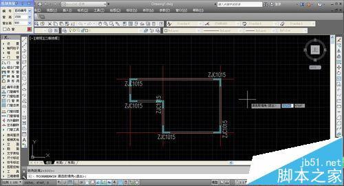 CAD建筑图纸中怎么绘制转角窗和轴网墙?1
