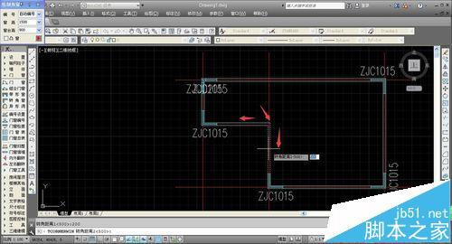 CAD建筑图纸中怎么绘制转角窗和轴网墙?17