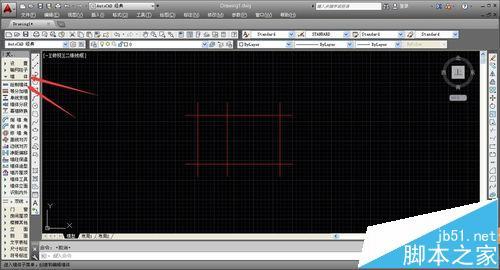 CAD建筑图纸中怎么绘制转角窗和轴网墙?6