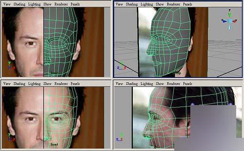 Maya制作人物头部polygon建模14